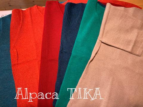 アルパカ100% 極細糸 セーターとチュニックがご奉仕価格になりました_d0187468_14085470.jpg