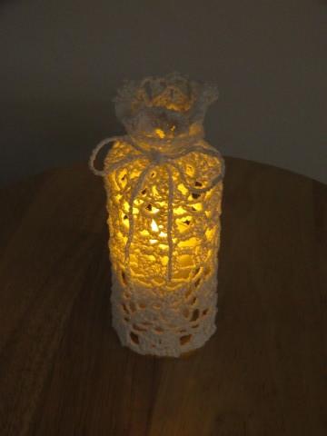 Doily Crochet candle holder ♯2  _b0209691_15232559.jpg