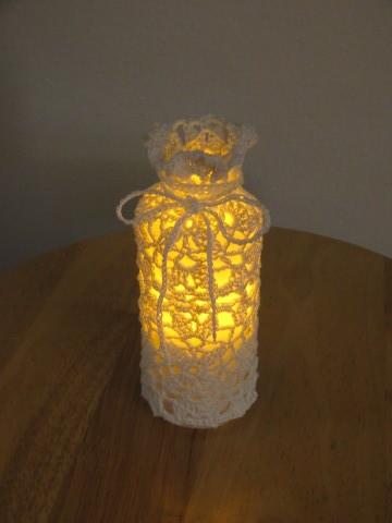 Doily Crochet candle holder ♯2  _b0209691_15233944.jpg