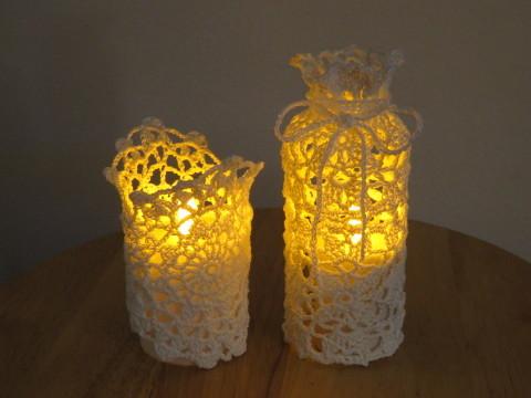 Doily Crochet candle holder ♯2  _b0209691_15241406.jpg