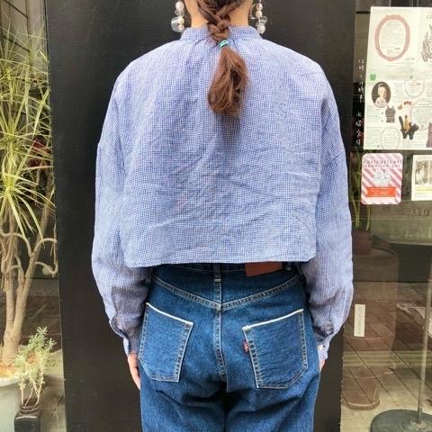 〘fig London〙blossom CHECK short shirt_a0389054_00493637.jpg
