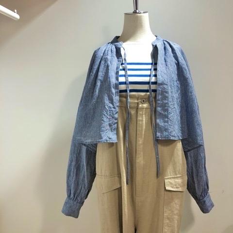 〘fig London〙blossom CHECK short shirt_a0389054_00503175.jpg