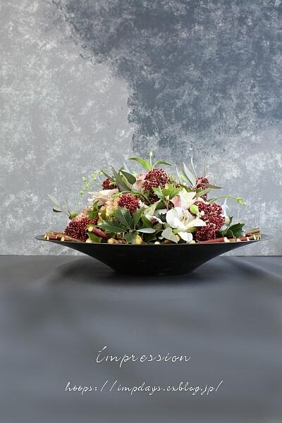 柊のアレンジメント_a0085317_15555412.jpg