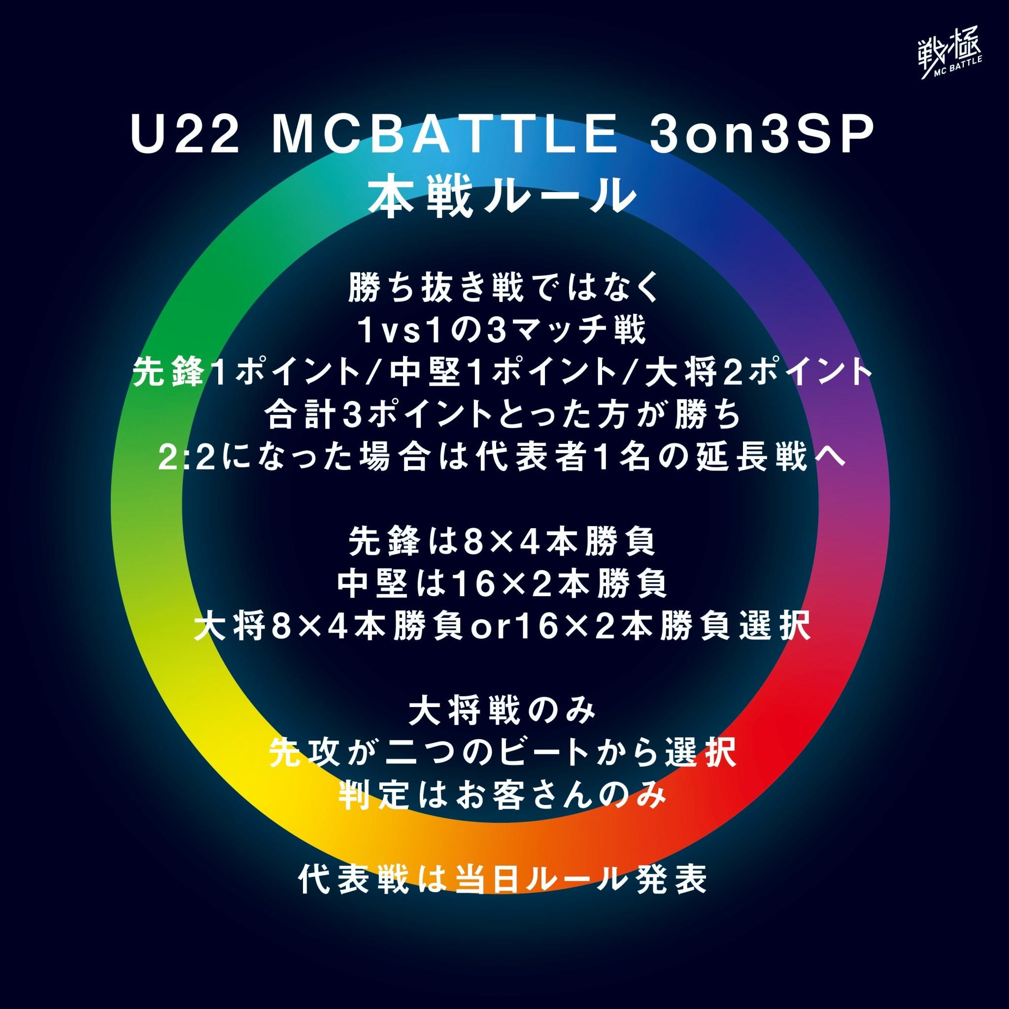 2021年3月14日 U22 MCBATTLE 3vs3 SP 2021 配信チケット販売 当日券あり タイムテーブル発表!_e0246863_15093732.jpg