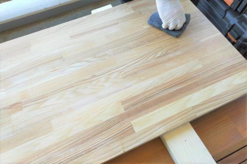 【DIY】その③ 木材にワックス塗り_e0408608_18183232.jpg