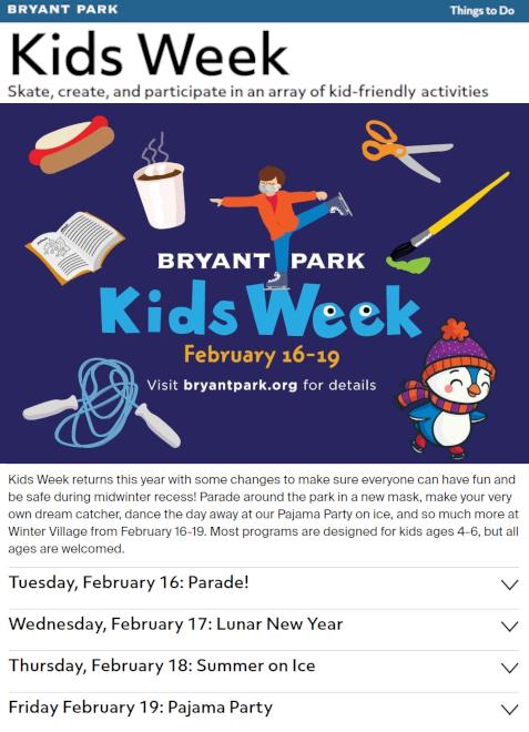 ブライアント・パーク・キッズ・ウィーク(Bryant Park Kids Week) 2021_b0007805_21213406.jpg