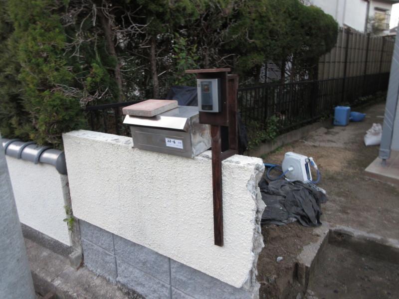 塗装が完了したので塀を壊す_c0405911_21411335.jpg