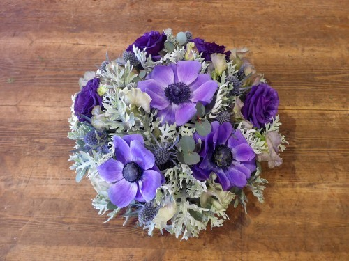 花修行~紫のアネモネのアンティーク風アレンジメント~_f0232060_12175848.jpg