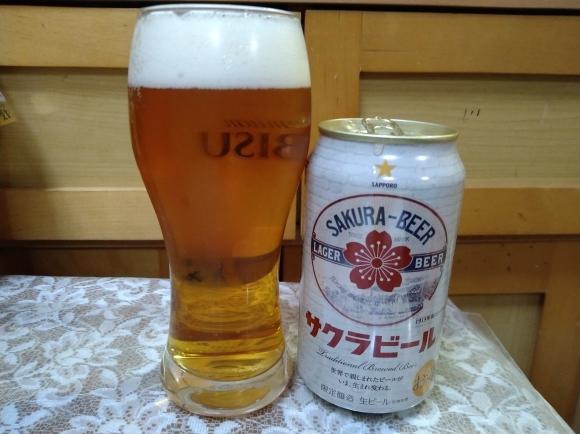2/22 サッポロサクラビール、ギネスビールオリジナル、マルちゃん焼そばだし醤油味@自宅_b0042308_22265817.jpg