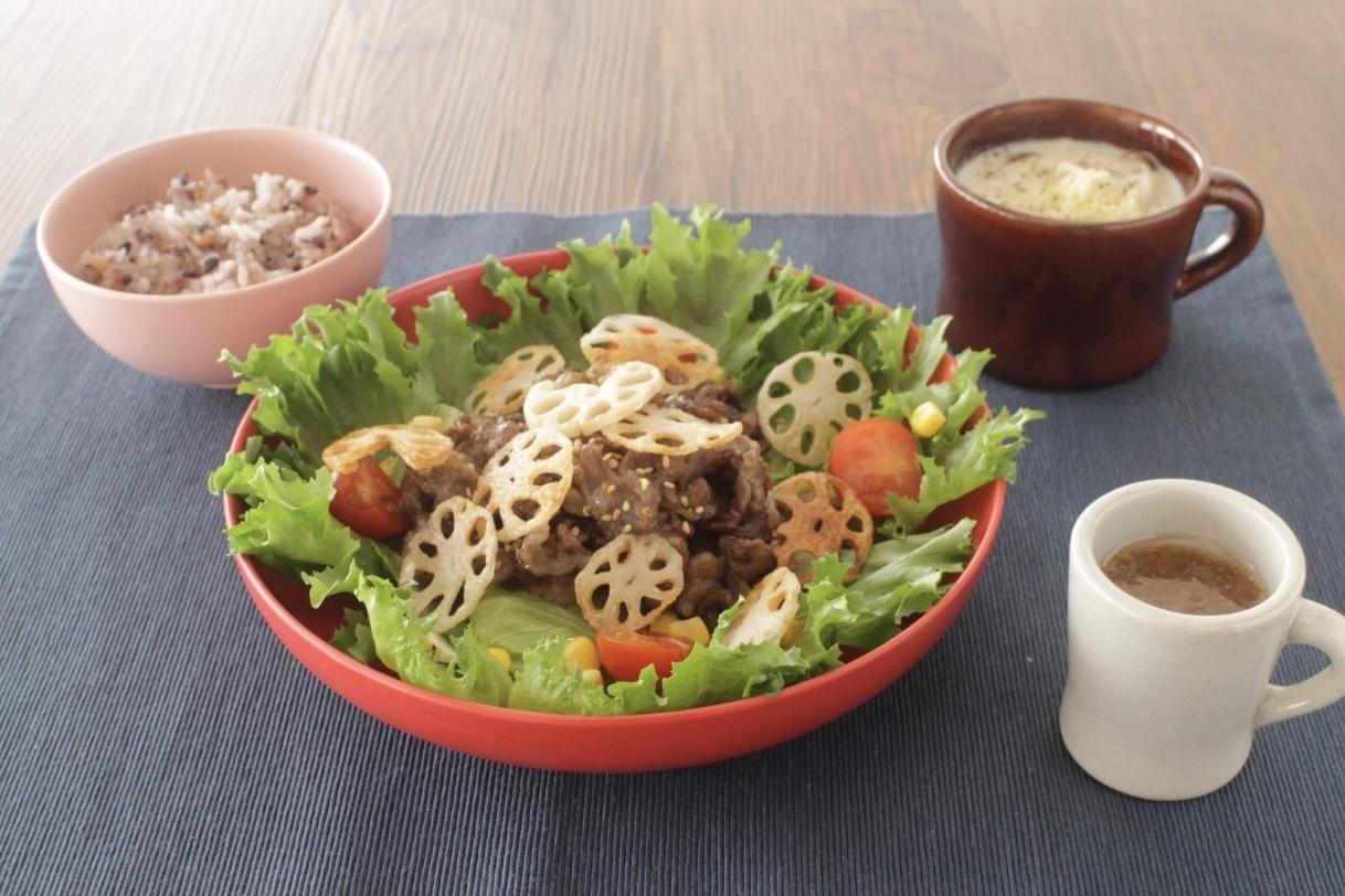 牛肉とレンコンの和風おろしサラダ_f0220354_15180059.jpeg
