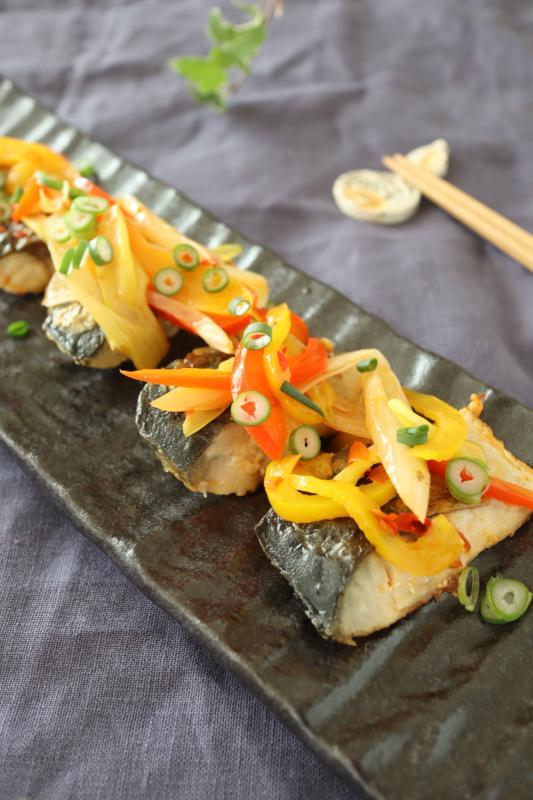 (レシピ)レンコンひじきサラダとサバの中華マリネ_c0209912_18504360.jpg
