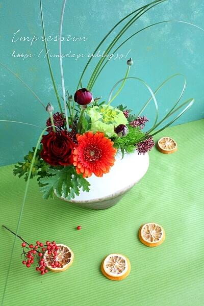 定期装花から ラナンキュラス:パトラス_a0085317_00020068.jpg