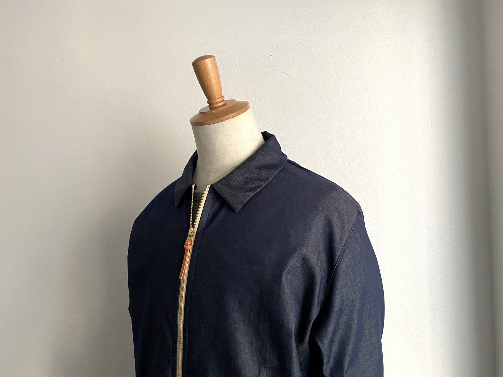 Cool Chambray Zip Blouson_c0379477_22222329.jpg