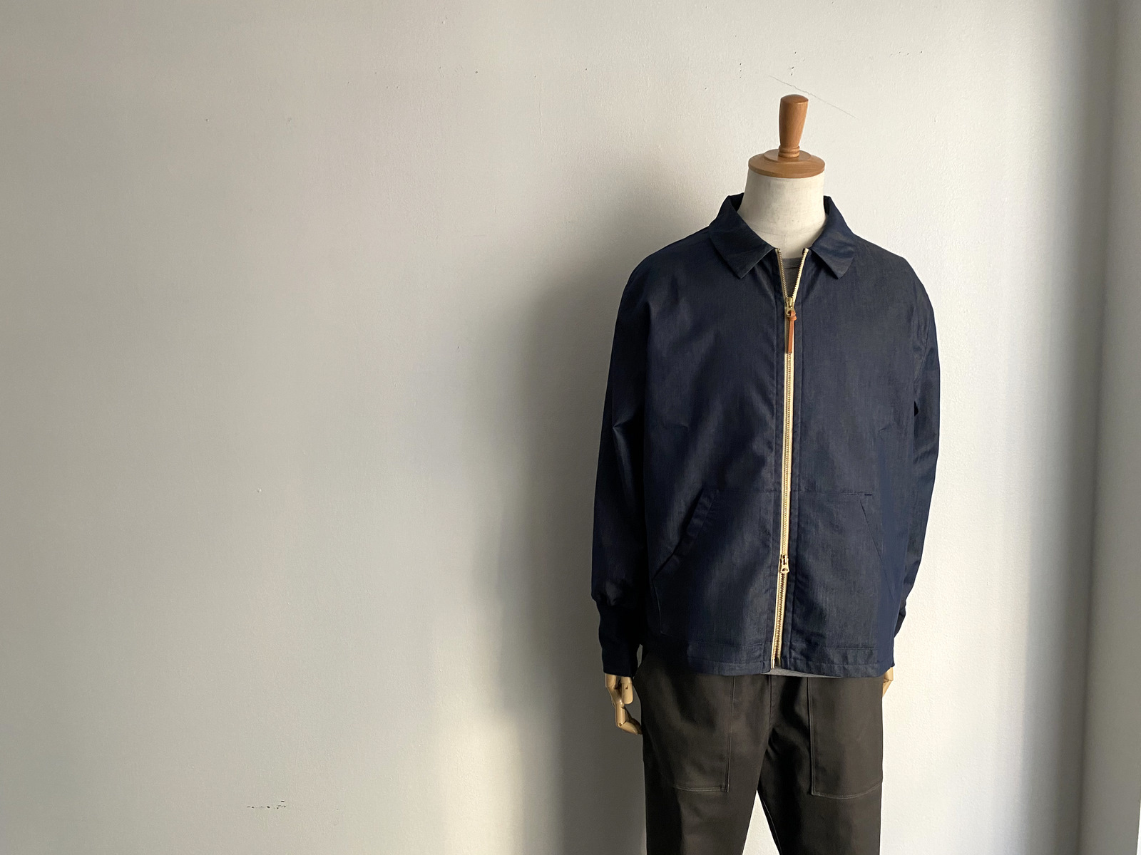 Cool Chambray Zip Blouson_c0379477_22223384.jpg