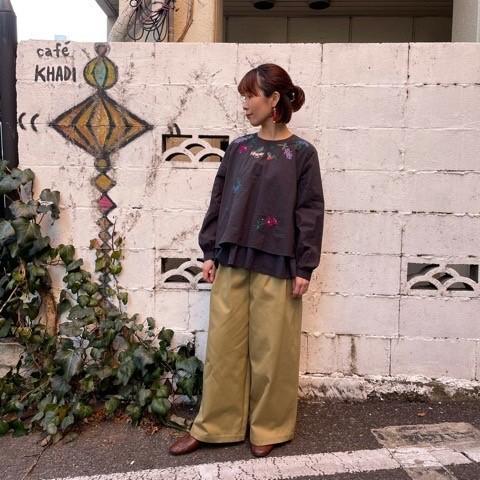 (( l\'atelier du savon )) お花のネックレス刺繍ブラウス_a0389054_16475904.jpg