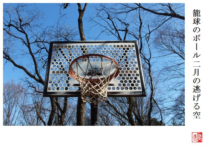 籠球のボール二月の逃げる空_a0248481_21310581.jpg