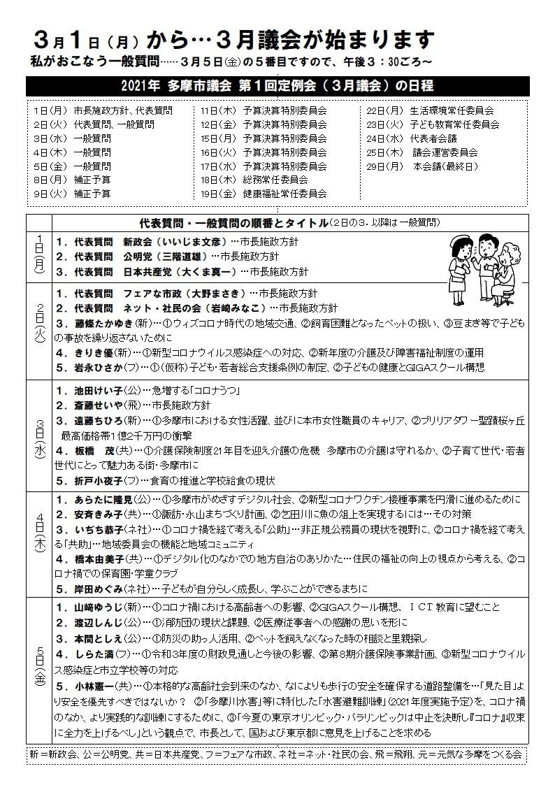 №1058 「政権協力」とはズバリ枝野さんを首相にすること…日本共産党・志位委員長が『週刊金曜日』誌上で発言/多摩市議会3月議会…代表質問・一般質問一覧_a0045389_18411719.jpg