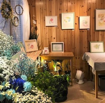 宝塚の花屋つくしさんでの個展が始まりました!_c0138704_23005693.jpg