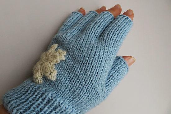 ジョウビタキとルリビタキ。雪の結晶アップリケの手袋_e0255509_20543262.jpg