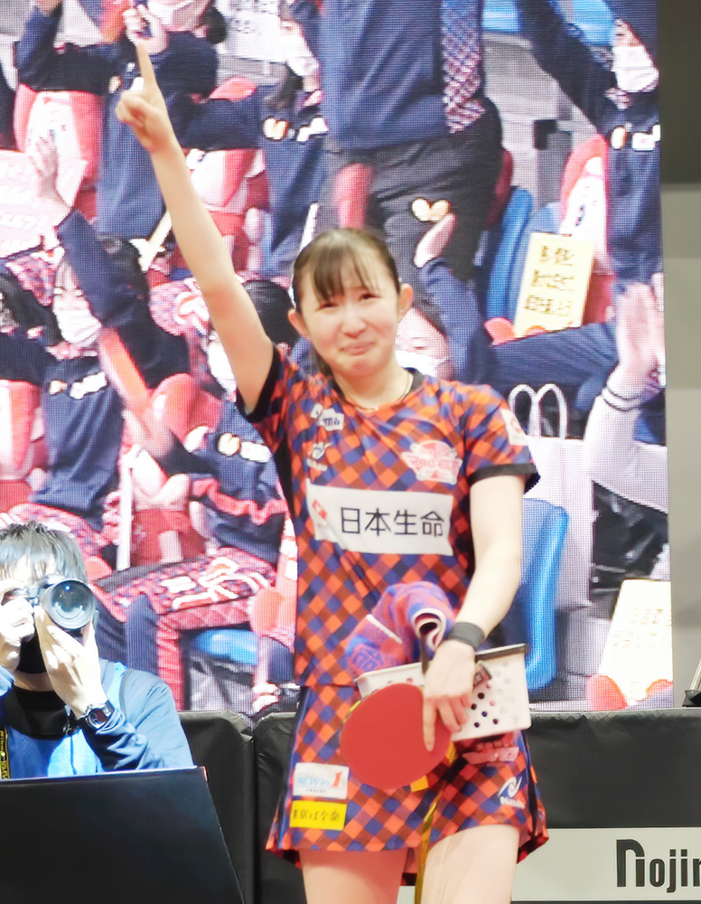 早田ひな選手(ノジマTリーグ 2020-2021シーズン プレーオフ ファイナル)_f0105694_22290976.jpg