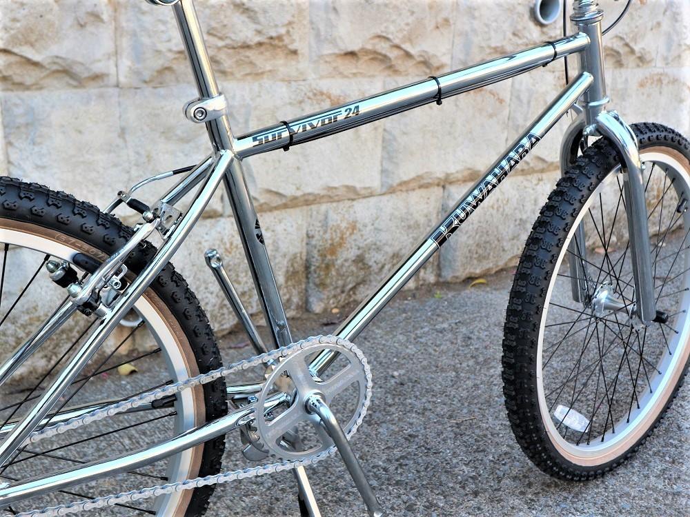 KUWAHARA SURVIVOR 24 FLAME bike限定 クロームメッキ ステムレッド_e0188759_17571824.jpg