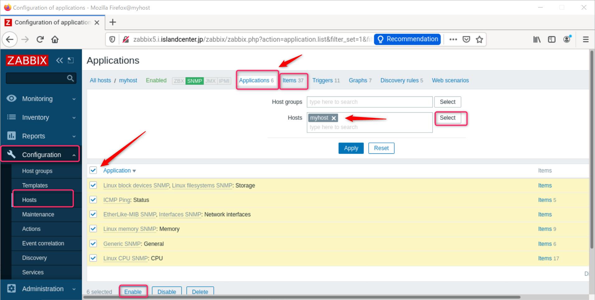 zabbix 5.2  openSUSE Leap 15.2 SNMP でデバイス監視_a0056607_15532745.png