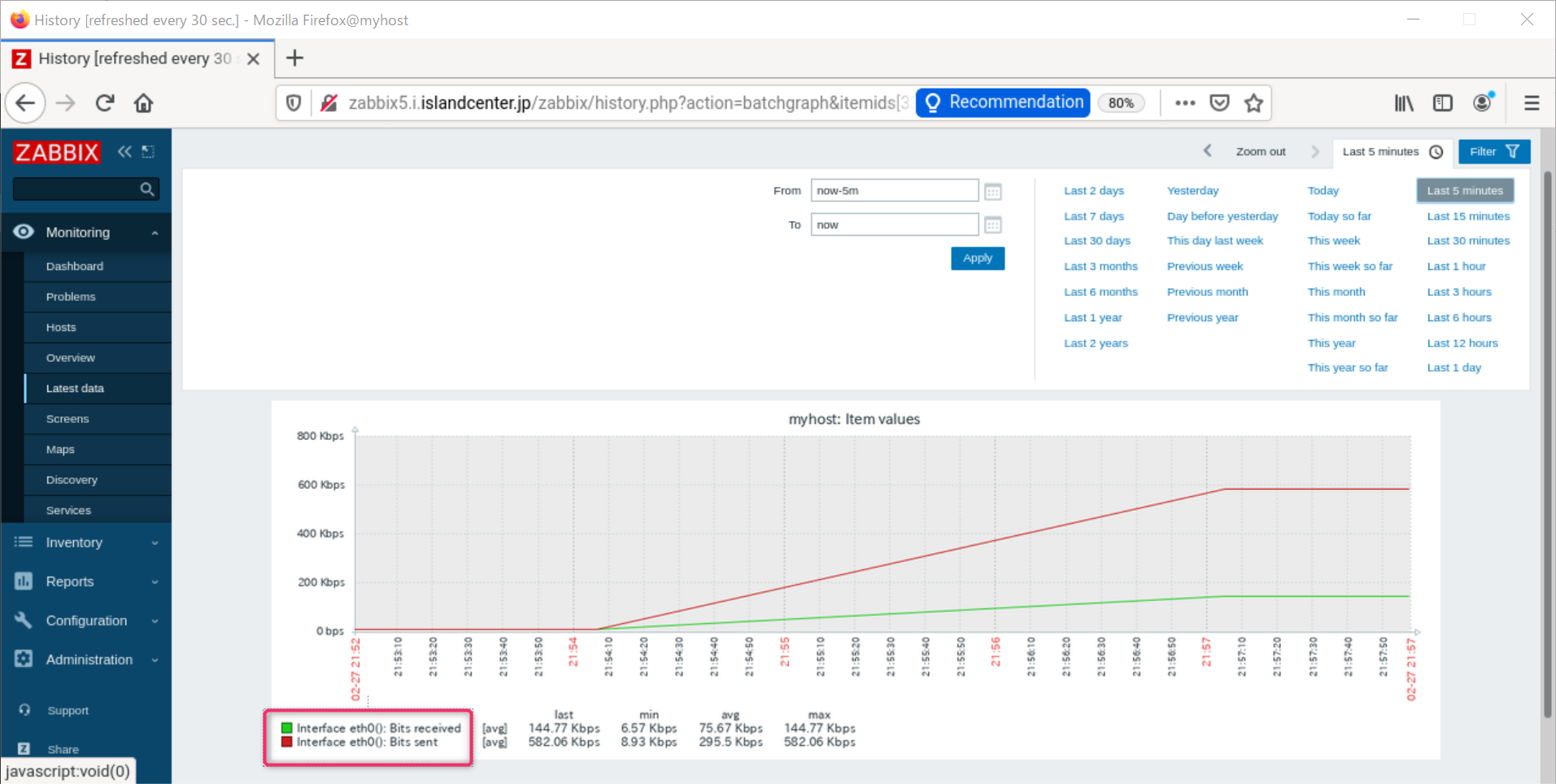 zabbix 5.2  openSUSE Leap 15.2 SNMP でデバイス監視_a0056607_15540433.png