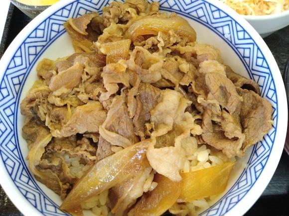 2/28 吉野家 牛丼並汁だくAセット、玉子_b0042308_06502839.jpg