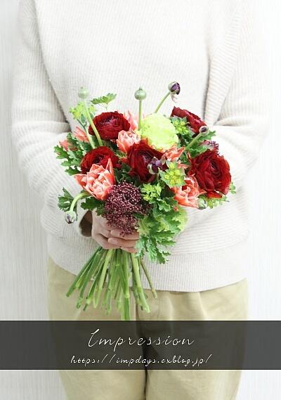 2月の花束レッスン_a0085317_20415912.jpg