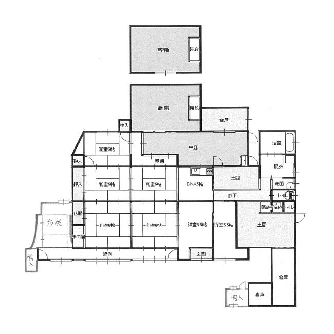 兵庫県古民家物件、平屋建、蔵付、駐車場8台付_f0115152_19311593.jpeg