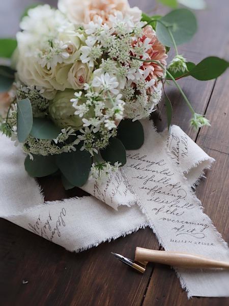 花束のリボンにカリグラフィー 2/25,2/27カリグラフィーレッスン_b0165872_21040843.jpeg