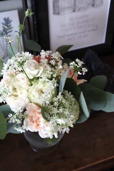 花束のリボンにカリグラフィー 2/25,2/27カリグラフィーレッスン_b0165872_21045354.jpeg