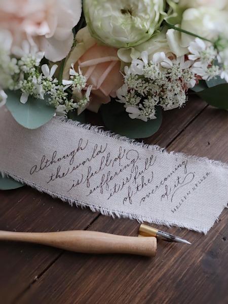 花束のリボンにカリグラフィー 2/25,2/27カリグラフィーレッスン_b0165872_21062947.jpeg