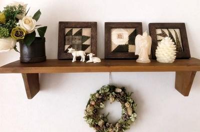 生徒さんの作品をご紹介~シャビーな家具にキルトを配して~_b0194861_10255483.jpg