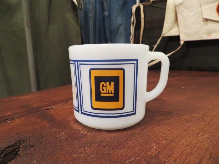 70\'s~ Fire King Ad Mug Advertising GM GENERAL MOTORS_e0187362_11320525.jpg