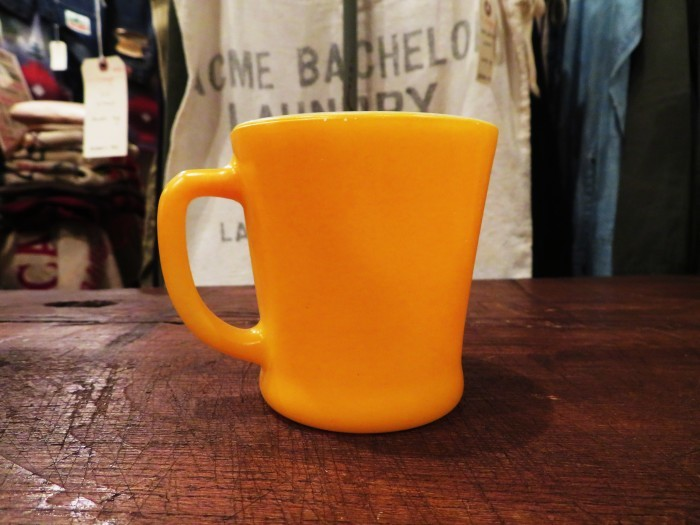 60\'s Fire King D-Handle Mug Orange 山吹色_e0187362_12142050.jpg