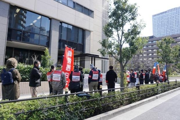 3月3日昼、JR西日本本社前行動を闘った_d0155415_14410889.jpg