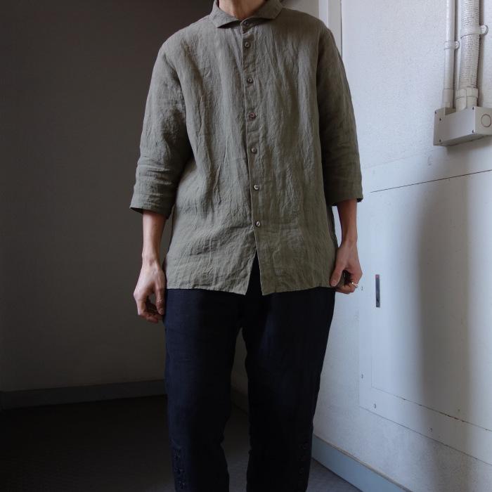 5月の製作 / french widespread belgium-linen shirt_e0130546_17092330.jpg