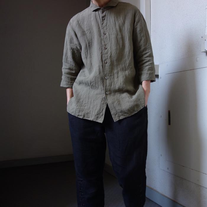 5月の製作 / french widespread belgium-linen shirt_e0130546_17101081.jpg