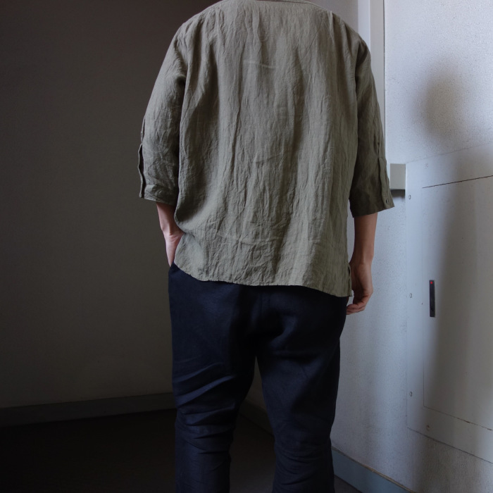 5月の製作 / french widespread belgium-linen shirt_e0130546_17133316.jpg