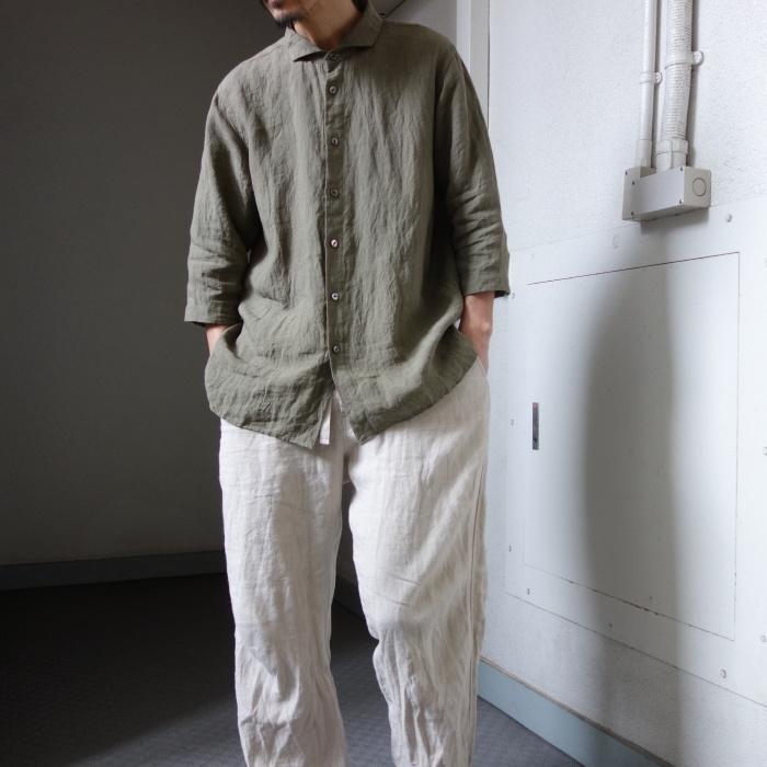 5月の製作 / french widespread belgium-linen shirt_e0130546_16321279.jpg