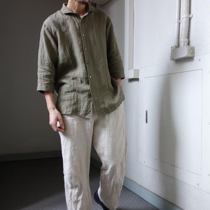 5月の製作 / french widespread belgium-linen shirt_e0130546_16330678.jpg