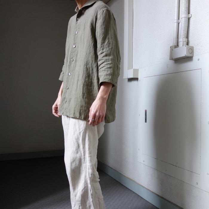 5月の製作 / french widespread belgium-linen shirt_e0130546_16332078.jpg