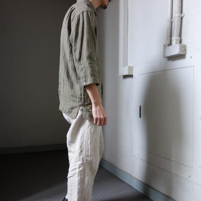 5月の製作 / french widespread belgium-linen shirt_e0130546_16333865.jpg
