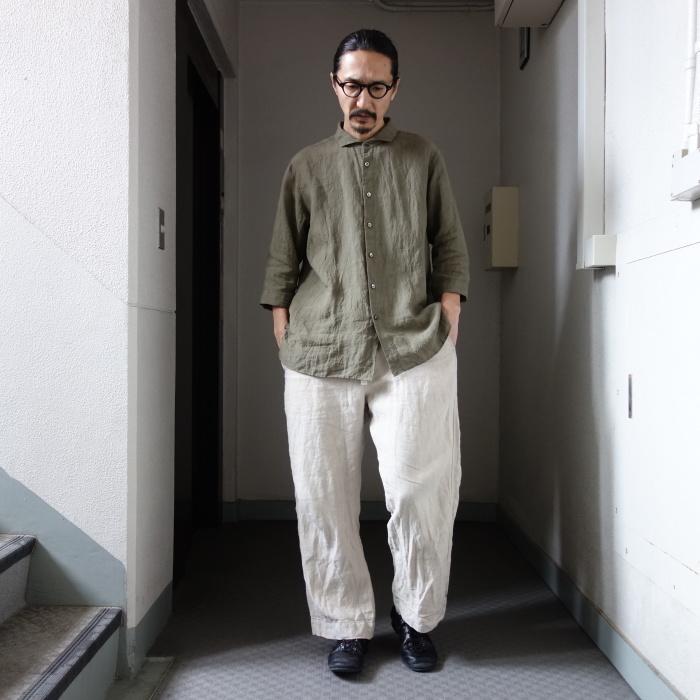 5月の製作 / french widespread belgium-linen shirt_e0130546_17112472.jpg
