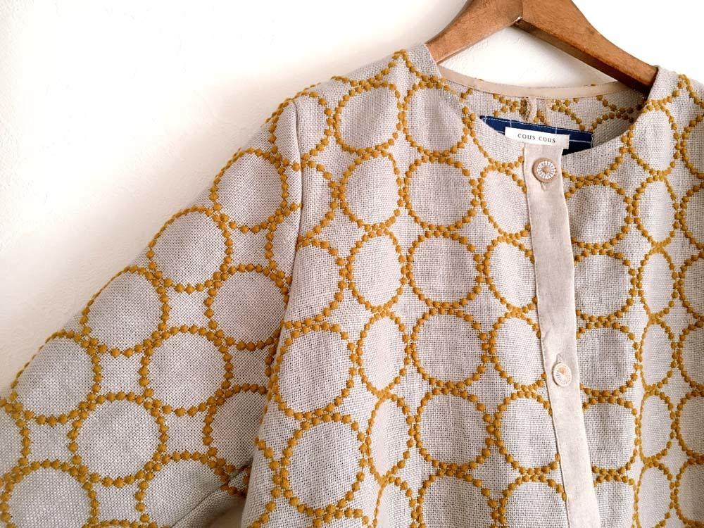 ミナペルホネン「タンバリン」生地の羽織りワンピース_a0232169_09103848.jpg