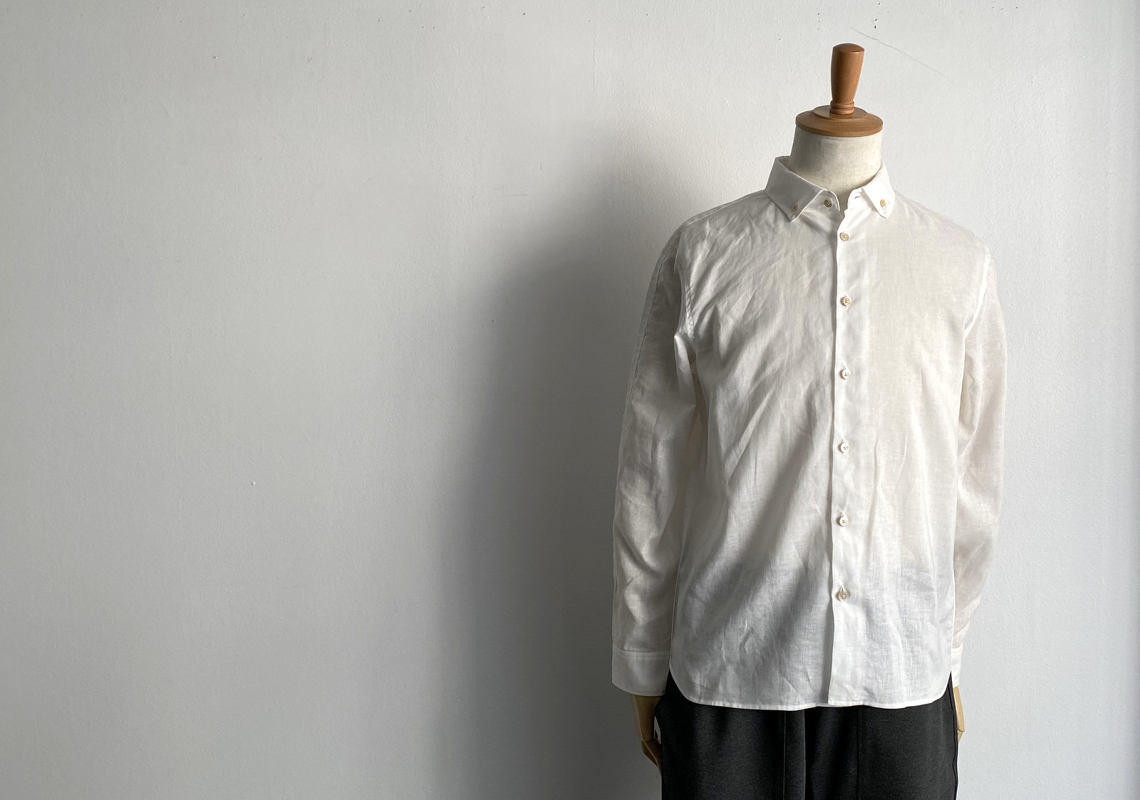Linen Canvas Split Raglan Shirt_c0379477_20180474.jpg