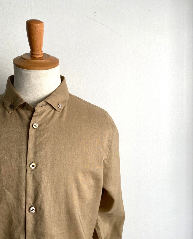 Linen Canvas Split Raglan Shirt_c0379477_20181826.jpg