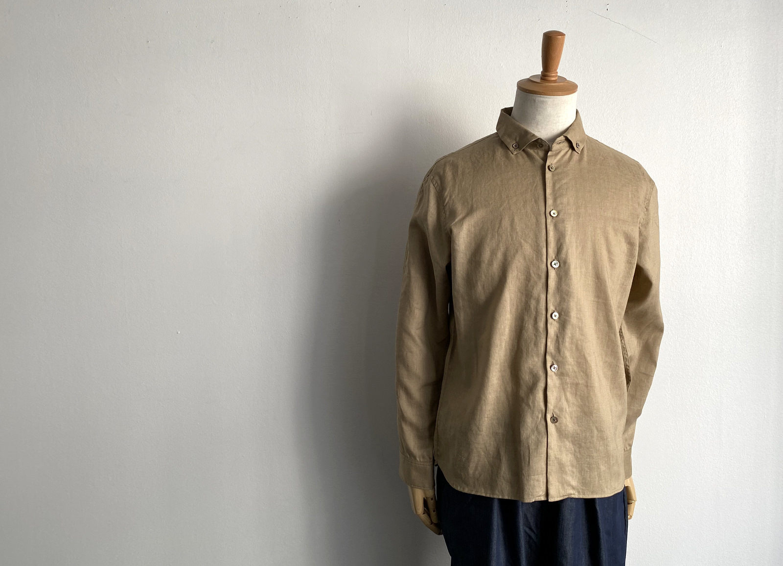 Linen Canvas Split Raglan Shirt_c0379477_20185631.jpg