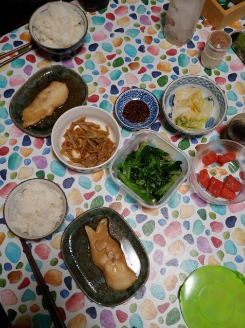 煮魚定食_c0162773_19111500.jpg